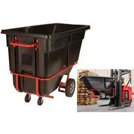 Rubbermaid Garbage & Trash Tilt Trucks With Fork Pockets