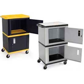"""Tuffy"" Industrial Plastic Shelf Mobile Storage Cabinet Trucks"