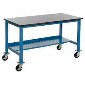Heavy Duty Mobile Lab Bench - Blue