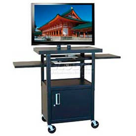 Buhl Flat Panel Monitor & Plasma, LCD Security Cart With Slide-Out Shelves