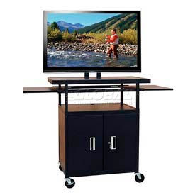 Buhl Extra-Large Flat Panel Monitor & Plasma, LCD Security Cart With Slide-Out Shelves