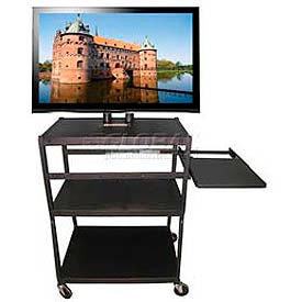 Buhl Flat Panel Monitor & Plasma, LCD Shelf Cart With Pull Out Side Shelf