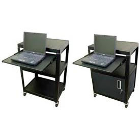 Buhl Adjustable Steel Audio Visual Workstations With Pull Out Shelf