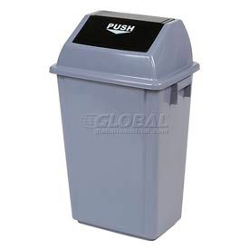 Global® Flip Top Trash Can