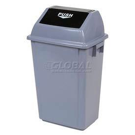 Global™ Flip Top Trash Can