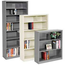 Tennsco -  Quick Adjust Shelf Steel Bookcase - Easy Assembly