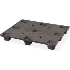 Closed Deck Nestable Plastic Pallet 48x40 Static Capacity 6000 Lbs