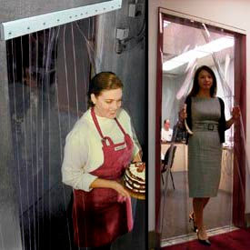 Curtronizer™ NSF Approved Office, Restaurant And Freezer Strip Curtain Doors
