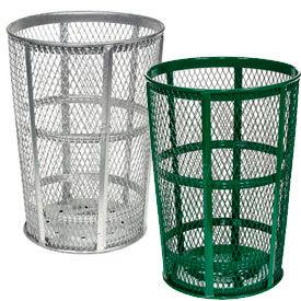Outdoor Steel Mesh Trash Receptacles