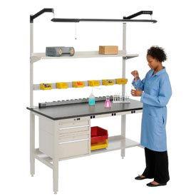 Heavy Duty Electric Lab Bench - Tan