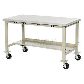 Mobile Heavy Duty Electronic Production Bench - Tan