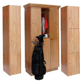 Hallowell® All Wood Club Lockers