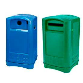 recycling station containers rubbermaid plaza containers offer large