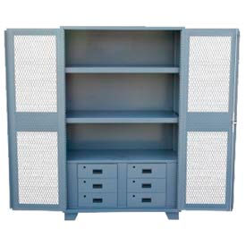 Heavy Duty Welded Clear View Cabinets With Drawers