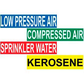 "Pressure Sensitive Vinyl Pipe Markers – 1 1/8"" X 7"""