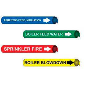 "Precoiled & Strap-On Pipe Markers For 2-1/2"" - 3-1/4"" Dia."