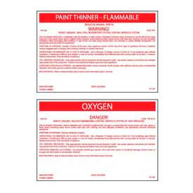 "Hazmat Container Labels – 3-1/4"" X 5"""