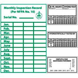 Fire Maintenance & Inspection Labels
