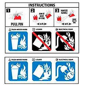 Pictorial Extinguisher Labels