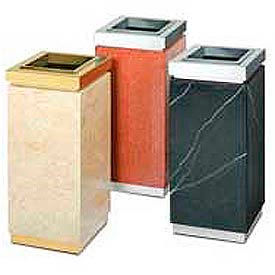 Elegant Square Marble Receptacles With Accents