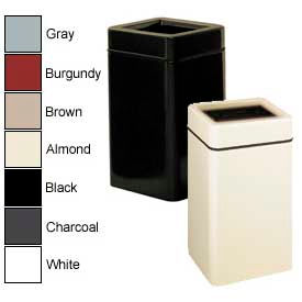 Rubbermaid® Square Fiberglass Open Top Garbage Can