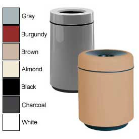 Rubbermaid® Round Fiberglass Open Top Trash Can