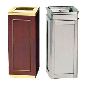 Rubbermaid® Elegant Square Ash Trash Containers