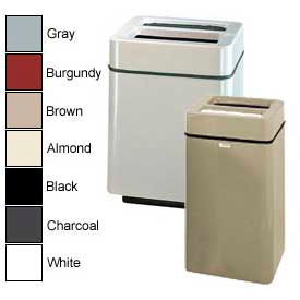 Rubbermaid® Square Fiberglass Ash Trash Containers