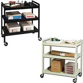 Buddy Products Three-Shelf Steel Mail & Office File Carts