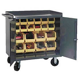 Mobile Bench Cabinets W/ Bins