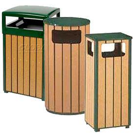 Rubbermaid® Regent 50 Series Polyethylene Lumber Slat Garbage Cans