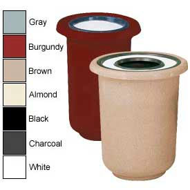 Rubbermaid® Round Fiberglass Waste And Cigarette Urns