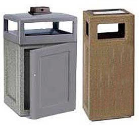 Rubbermaid® Rugged Concrete Ash Trash Receptacles