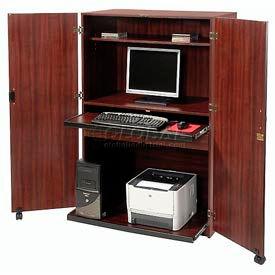 Balt® - Wood Laminate Security Computer Cabinet