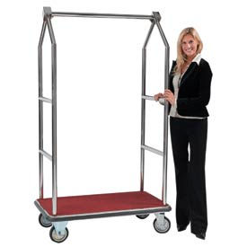Aarco Easy-Roll Bellman Hotel Luggage Carts