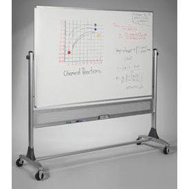 "Balt® Reversible Platinum Whiteboard Porcelain Both Sides - 72""W x 48""H"
