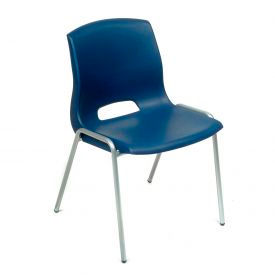 Merion Vented Stackable Chair - Blue - Pkg Qty 4