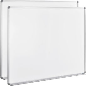 Magnetic Whiteboard - 60 x 48 - Steel Surface 2 Pack