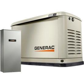 Generac 7032,10/11kW,120/240 1-Phase,Air Cooled Guardian Generator,NG/LP,Alum. Encl.,16-Cir. Switch