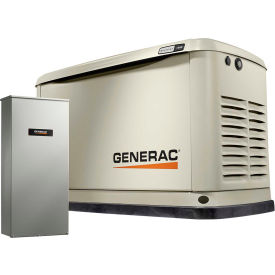 Generac 7033,10/11kW,120/240 1-Phase,Air Cooled Guardian Generator,NG/LP,Alum. Encl.,200A SE Switch