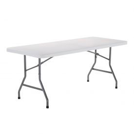 Interion™ 6 Foot Plastic Folding Table