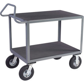 Ergonomic Two-Shelf Steel Instrument Carts
