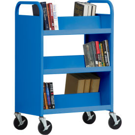 Sandusky Welded Double-Sided Sloped-Shelf Book Carts