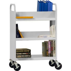 Sandusky Welded Combination Book Carts - Flat Bottom Shelf