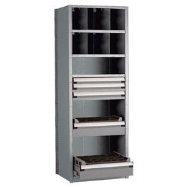 30 Inch Wide Rousseau Shelving With 5 Drawers