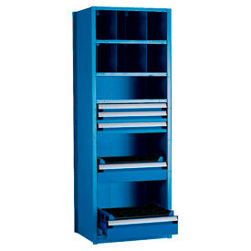 36 Inch Wide Rousseau Shelving With 5 Drawers