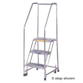 Stainless Steel Rolling Ladders – Spring Loaded Casters