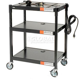 Safco® Steel Adjustable Height AV Carts