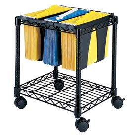Safco® Compact Mobile Wire File Carts