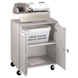 Buddy Products Locking Mail Storage Cart